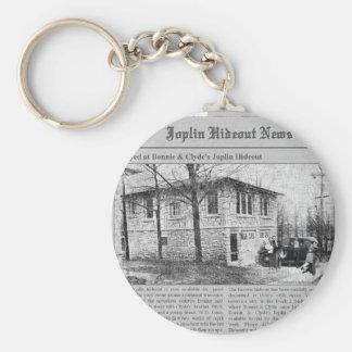 Bonnie & Clyde's Joplin Hideout Keychain