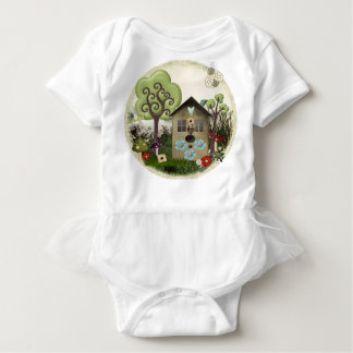 Bonnie Memories Vintage Whimsical for Kids! Baby Bodysuit