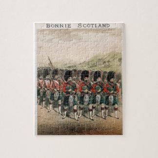 Bonnie Scotland Bagpipers Puzzle
