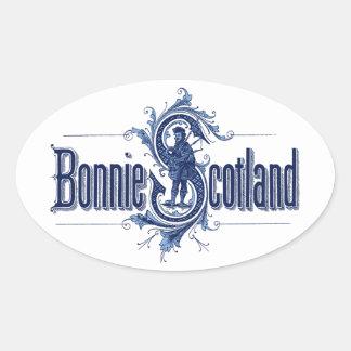 Bonnie Scotland Navy Blue Oval Sticker
