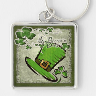 Bonnie St. Patricks Day GIFT Silver-Colored Square Keychain