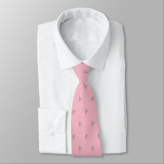 Bonnie Thistles (pale pink/small print) Tie