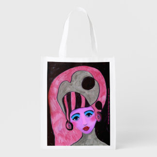 Bonny Pink Lady reusable grocery bag