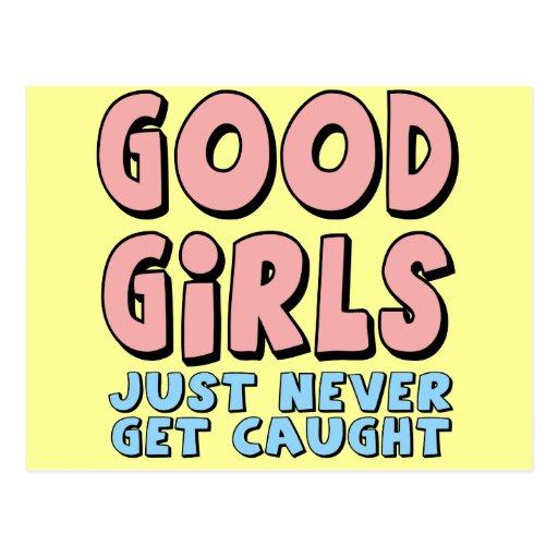 Bons T-shirts et cadeaux de filles pour elle Cartes Postales