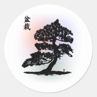 bonsai 01 classic round sticker