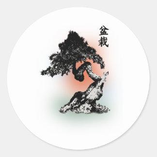 Bonsai 01 round sticker