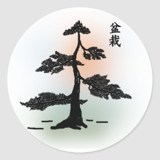 Bonsai 03 classic round sticker