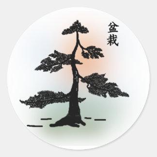 Bonsai 03 round sticker