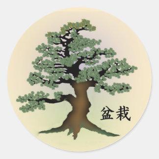 Bonsai 08 round sticker