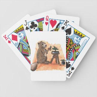 Bonsai Beaver Bicycle Playing Cards