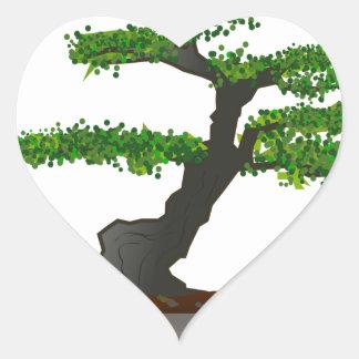 Bonsai Heart Sticker