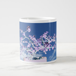 Bonsai inverted purple white against sky portulaca large coffee mug