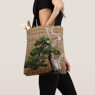 Bonsai pine tote bag