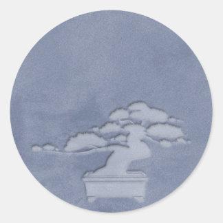 bonsai round sticker