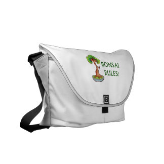 Bonsai Rules Shari Tree Graphic and text design Courier Bags
