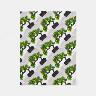 Bonsai tree fleece blanket