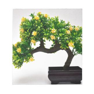 Bonsai tree notepad