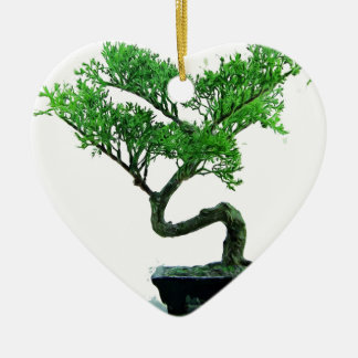 bonsai-tree Painting Ceramic Heart Ornament