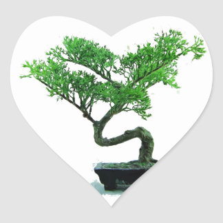 bonsai-tree Painting Heart Sticker