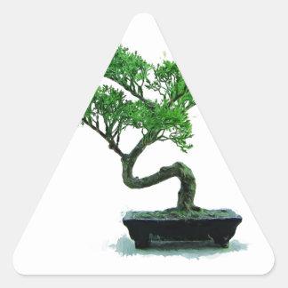 bonsai-tree Painting Triangle Sticker