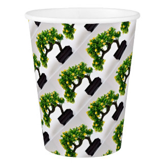 Bonsai tree paper cup
