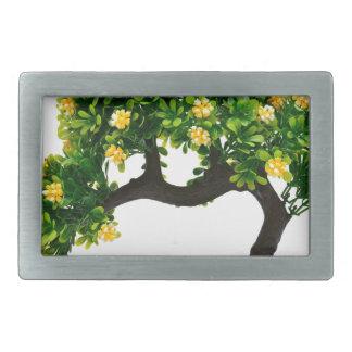 Bonsai tree rectangular belt buckles