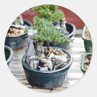 Bonsai Tree Round Sticker