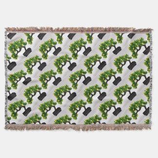 Bonsai tree throw blanket