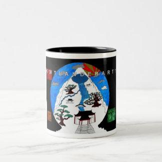 bonsi tree - Customized Two-Tone Coffee Mug