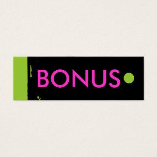 """""""BONUS"""" Hang Tag"""