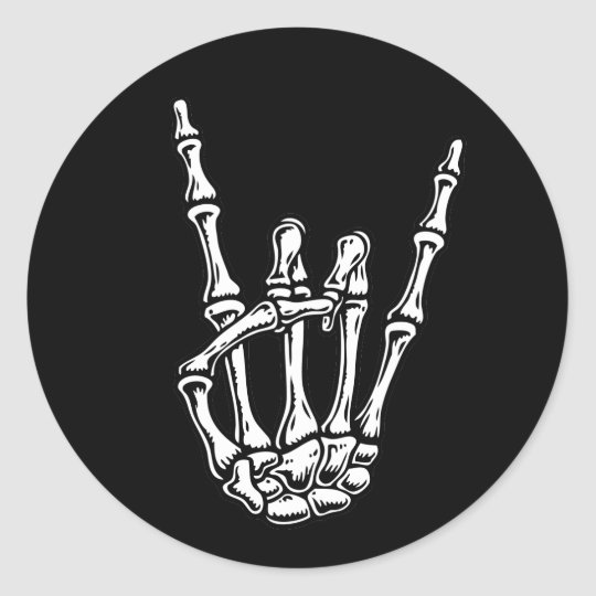 Bony Rock Hand Round Sticker