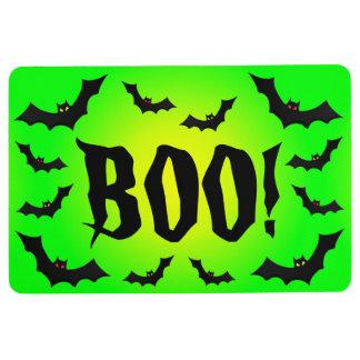 BOO! Bats on Green Floor Mat