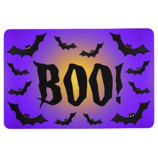 BOO! Bats on Purple Floor Mat