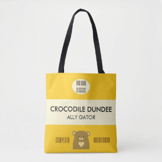 Boo Bear Book Cover - Sunflower Yellow Tote Bag