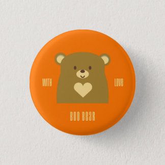 Boo Bear with Love 1 Inch Round Button