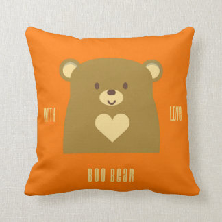 Boo Bear With Love Throw Pillow