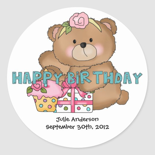 Boo Boo Bear 5 Birthday Party Stickers