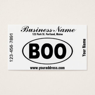 BOO Boone North Carolina Business Card
