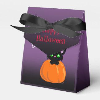 BOO! Cat in a Pumpkin Halloween Favor Box