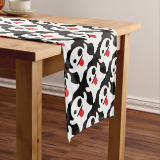 Boo Emoji Ghost Short Table Runner