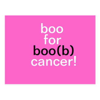 BOO FOR CANCER! Postcard by April McCallum