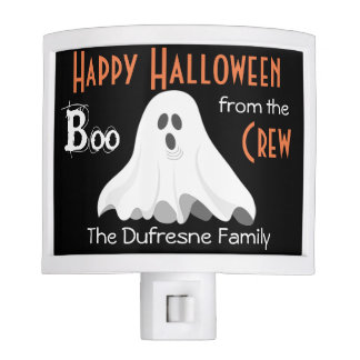 """Boo From The Crew"" Personalized Halloween Nite Light"