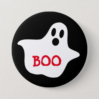 """Boo Ghost Large 3"""" Inch Round Button"""
