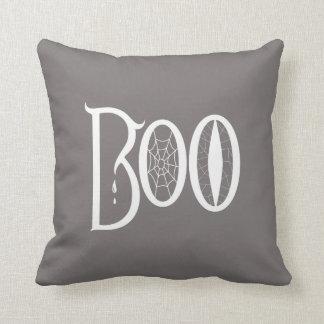 BOO! Grey Pillow