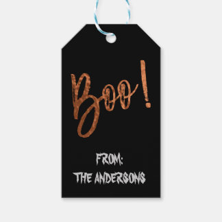Boo! Halloween Modern Halloween Gift Label Pack Of Gift Tags