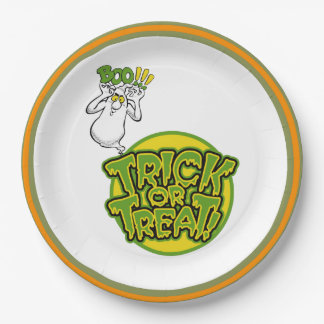 Boo!!! Halloween Party Paper Plates