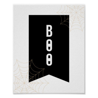"""Boo"" Halloween Poster | 8x10"