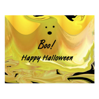 Boo! Happy Halloween Postcard