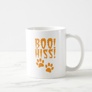 Boo Hiss! catty kitty foot prints Coffee Mug