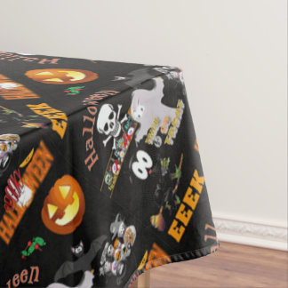 boo invite tablecloth
